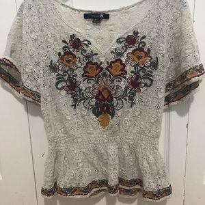 🔔 4 for 12! 🔔 Crochet blouse from Forever 21